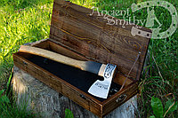 Кованый топор в подарочной коробке axe-val-1+box