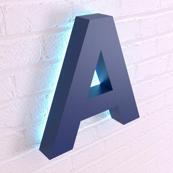 Объемные буквы с контражурной подсветкой