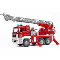 Bruder Пожарная машина Мерседес с водным шлангом, звуком и подсветкой, фото 1