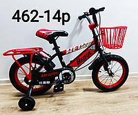 Велосипед BeixiL красный оригинал детский с холостым ходом 14 размер