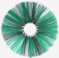 Disc brush with combined pile