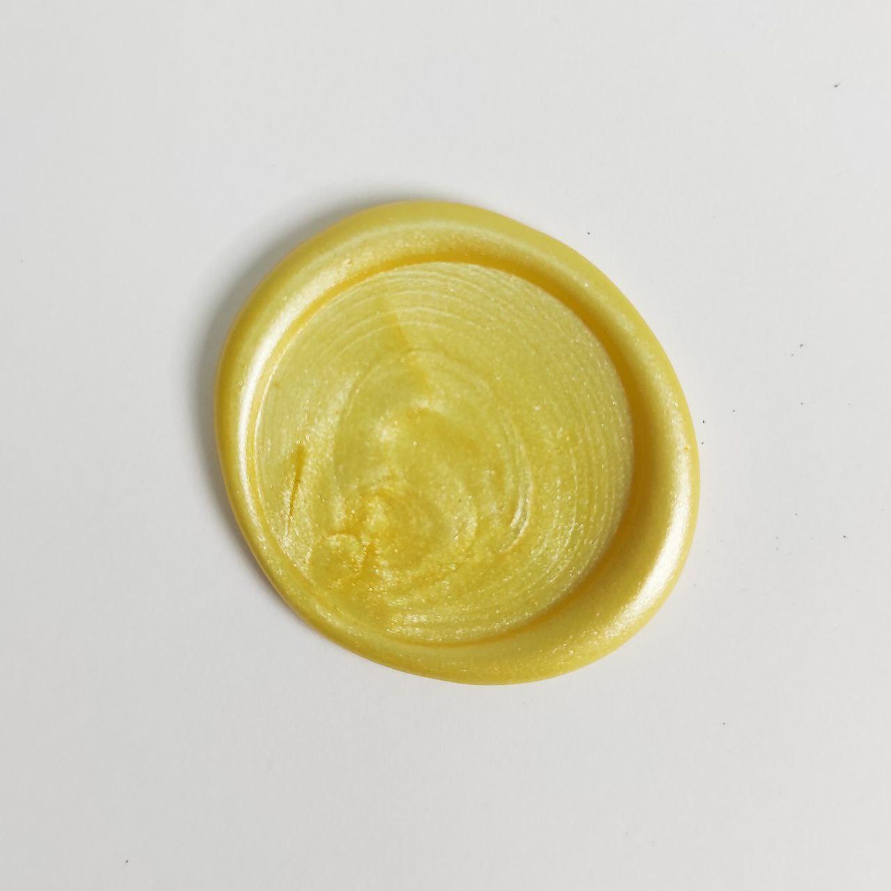 Декоративный сургуч. Цвет - Светло-лимонный, перламутровый.
