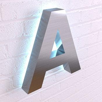 Объёмные буквы из стали с контражурной подсветкой
