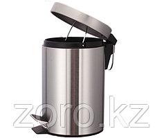 Педальная урна 12 литров металлическая (хром)