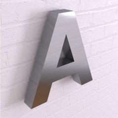 Объемные буквы из стали без подсветки