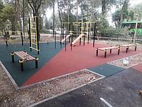 Площадка с резиновым покрытием 80 м2 (толщина покрытия 10 мм)