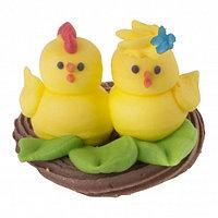 """Сахарные фигурки """"Цыплята в гнезде"""""""