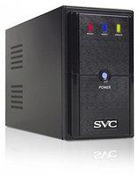 UPS, SVC, V-600-L, Диапазон работы AVR: 165-275В, 3 вых,: 2 Shuko CEE7+1 IEC C13 (Bypass), Бат,: 12В/7,5 Ач*