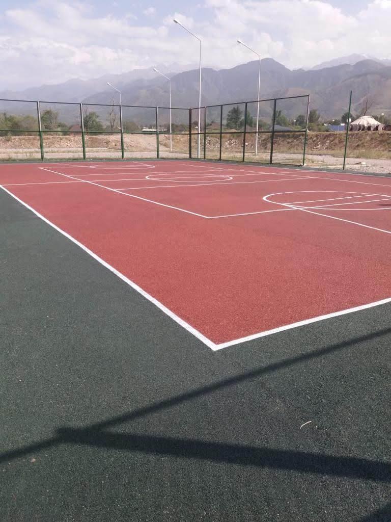 Площадка с резиновым покрытием 648 м2 (толщина покрытия 15 мм) - фото 1
