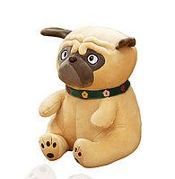 Мягкая игрушка подушка тряпичная Момс с ошейником маленькая 35 см