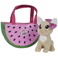 Мягкая игрушка Simba Chi-Chi love Фруктовая мода с сумочкой 10 5893116 18 см