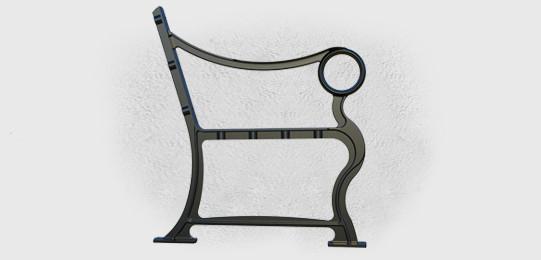 Опоры боковые Микеланджело литые скамейки - фото 2