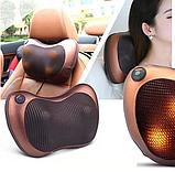 Массажная подушка Massage Pillow  8 роликов в авто и для дома., фото 4