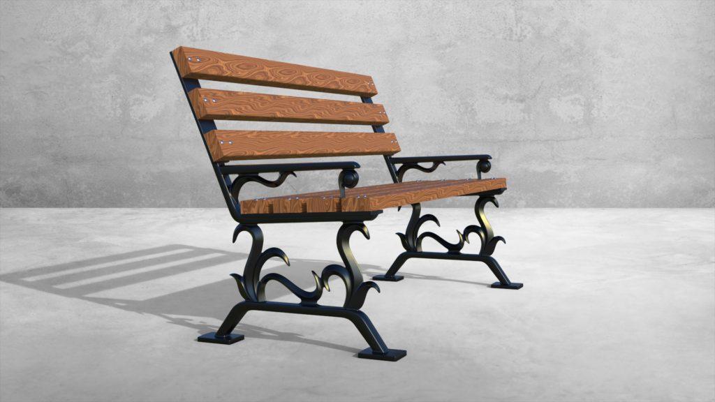 Опоры боковые Донателло литые чугунные скамейки - фото 1