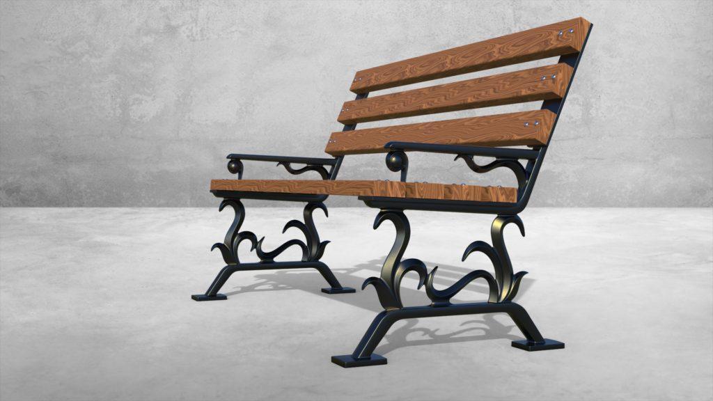 Опоры боковые Донателло литые чугунные скамейки - фото 2