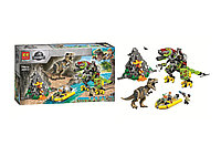 Конструктор Lari 11337 аналог Lego 75938 Jurassic World T. rex vs Dino-Mech Battle.