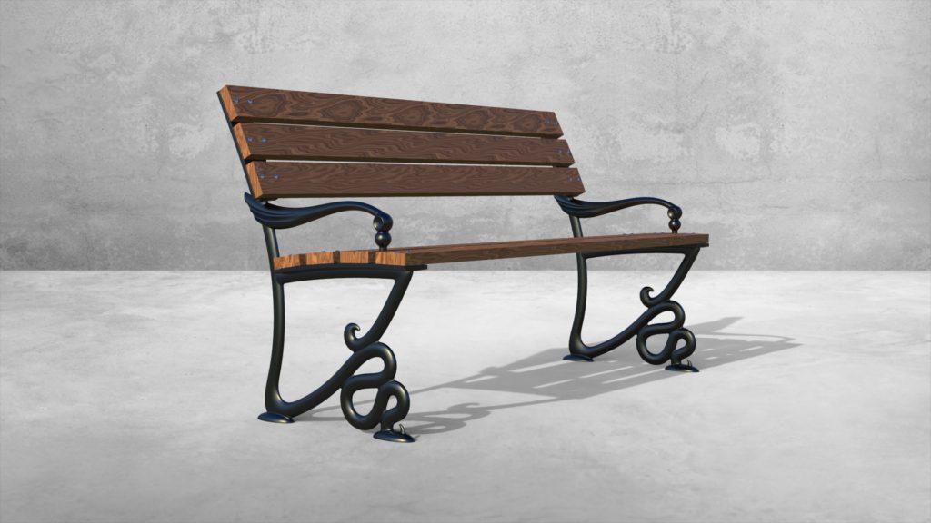 Опоры боковые Веронезе литые чугунные скамейки - фото 2