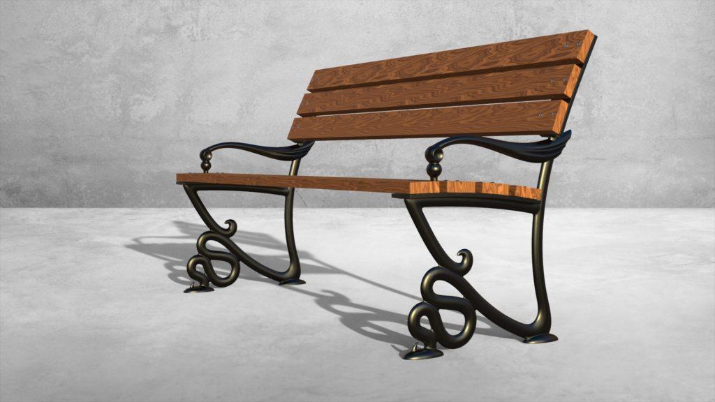 Опоры боковые Веронезе литые чугунные скамейки - фото 1
