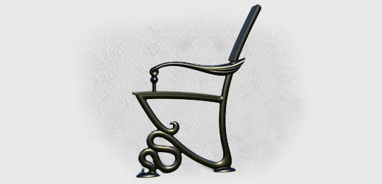 Опоры боковые Веронезе литые чугунные скамейки - фото 3