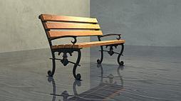 Опоры боковые Леонардо литые чугунные скамейки