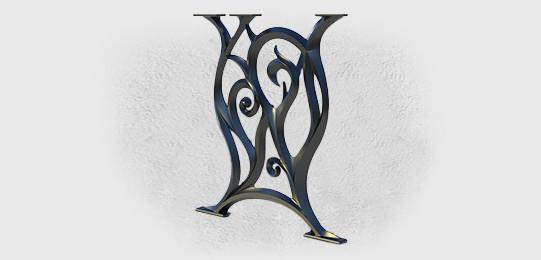 Подстолья Ботичелли литые чугунные садовые столы - фото 2