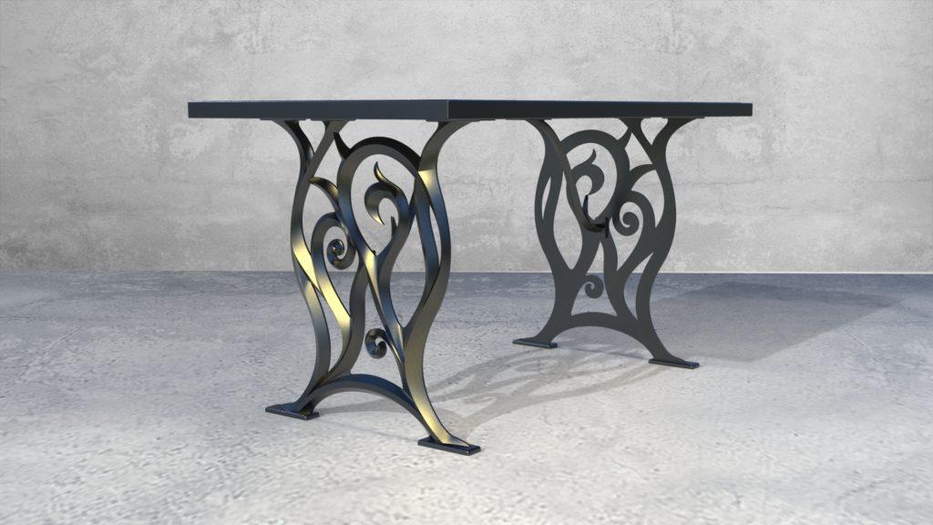 Подстолья Ботичелли литые чугунные садовые столы - фото 3