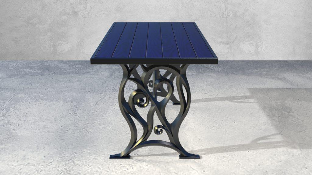 Подстолья Ботичелли литые чугунные садовые столы - фото 1