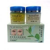 Набор для борьбы с пигментными пятнами Yinni с экстрактом зелёного чая.