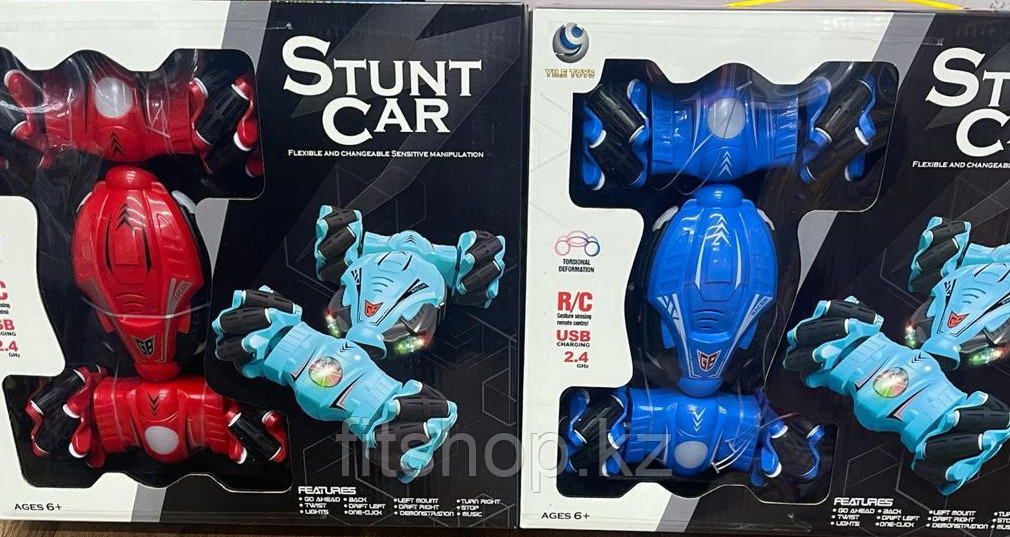 Трюковая машинка-перевертыш на управлении жестами и на радиоуправлении Stunt Car