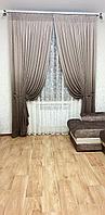 Шторы в гостиную MarkizaTaraz 350х270 амбре