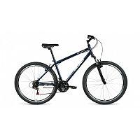 "Велосипед ALTAIR MTB HT 27,5 1.0 (27,5"" 21 ск. рост 17"") 2020-2021, темно-синий/серебристый, RBKT1M1"