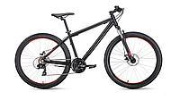 "Велосипед FORWARD APACHE 27,5 1.2 (27,5"" 21 ск. рост 17"") 2020-2021, серый/бирюзовый, RBKW1M37G007"