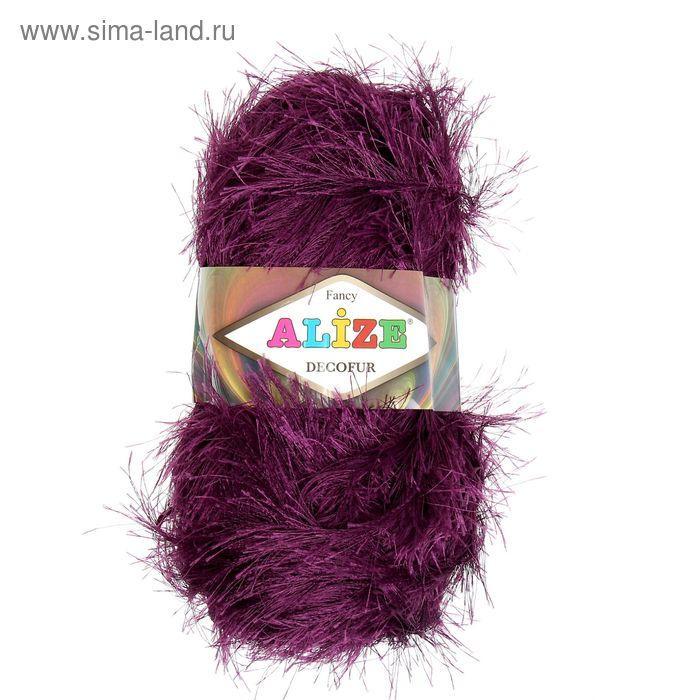 """Пряжа """"Decofur"""" 100% полиэстер 110м/100гр (304 фиолетовый) - фото 2"""