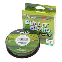 Леска плетёная Allvega Bullit Braid dark green 0,24, 135 м