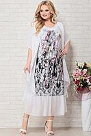 Женское летнее шифоновое большого размера платье Aira Style 811 62р.