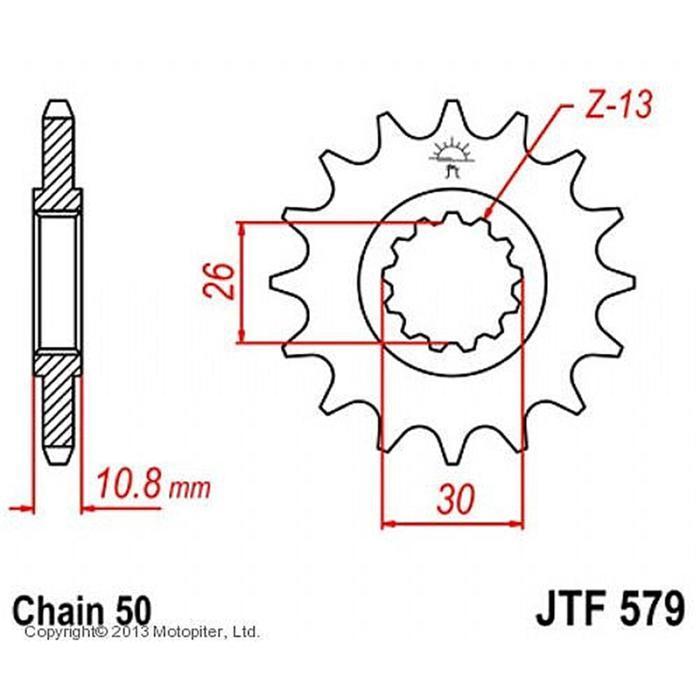Звезда ведущая JT sprockets JTF579-17