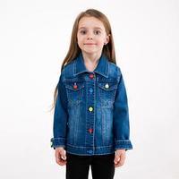 Куртка для девочки, цвет синий, рост 92 см
