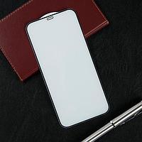 """Защитное стекло Krutoff, для iPhone 12 Pro Max (6.7""""), полный клей, черная рамка"""