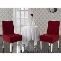 Чехлы на стулья Milano, 2 шт., цвет бордовый