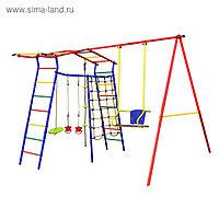 Детский спортивный комплекс уличный «Игромания-1 Скалолаз» КМС-401, 2700 × 2300 × 2200 мм
