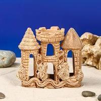 Декорация для аквариума 'Замок и коряга', 6 х 13 х 12 см, микс