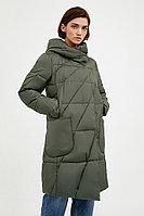 Пальто женское Finn Flare, цвет темно-зеленый, размер 3XL
