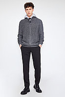 Кардиган мужской Finn Flare, цвет темно-серый, размер XL