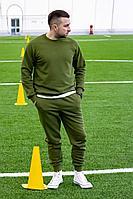 Мужской осенний трикотажный зеленый спортивный большого размера спортивный костюм GO M3007/28-02.176-182 44р.