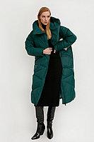 Пальто женское Finn Flare, цвет темно-зеленый, размер M