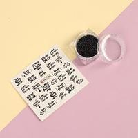 Набор для декора, 2 предмета наклейки для ногтей, кристаллы