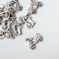 Набор металлических подвесок 'МОПЕД' 17х18мм, 10 шт