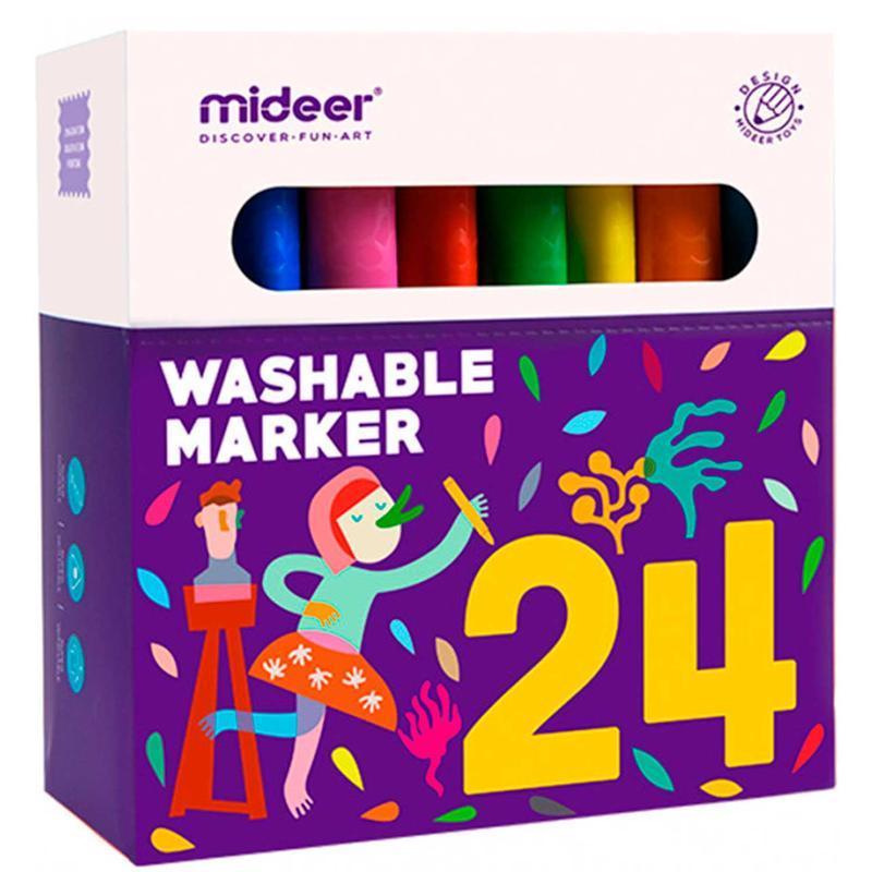 Смывающиеся маркеры (фломастеры). 24 шт MD4070