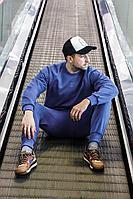 Мужской осенний трикотажный синий спортивный большого размера спортивный костюм GO M3007/20-01.176-182 44р.