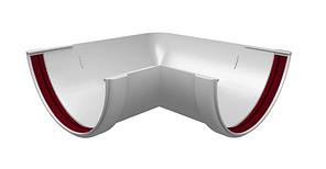 Угол желоба 90°-150° универсальный 120x85 мм Белый Grand Line